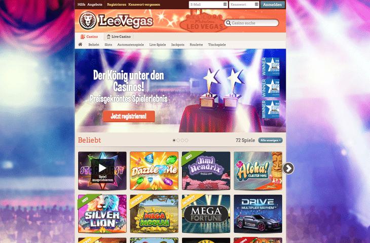 LeoVegas_Casino_Startseite