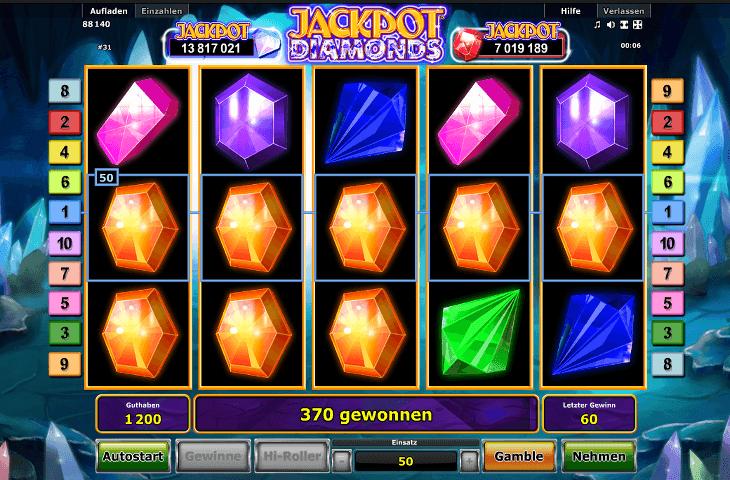 Spielautomat_Novoline_Jackpot_Diamonds