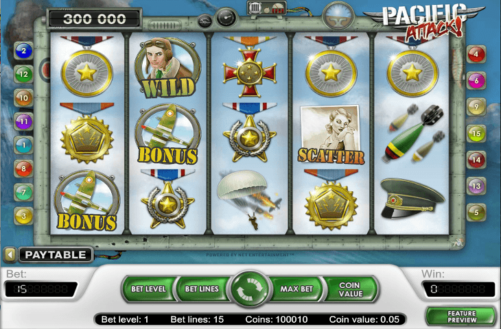 Spielautomat_Pacific_Attack_von_Net_Entertainment