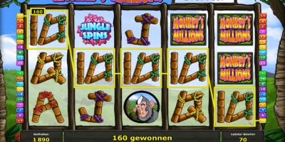Der Monkey's Millions Spielautomat mit Jackpot