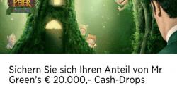 Gewinne ein Teil vom 20.000 Euro Cash-Drop Preis im Mr Green Casino