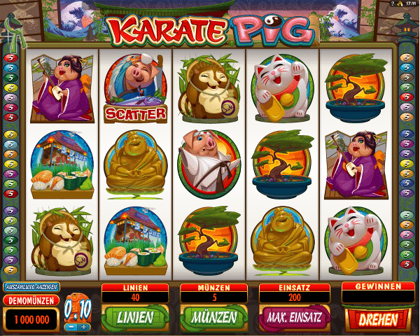 Karate_Pig_Microgaming_Spielautomat
