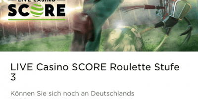 Das Live Score Roulette im Mr Green Casino geht in die 3.Runde