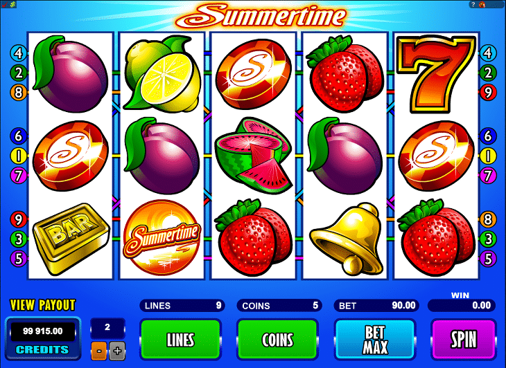 Summertime_Spielautomat_Microgaming