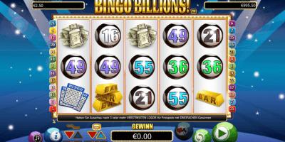 Der Bingo Billions! Spielautomat im InterCasino