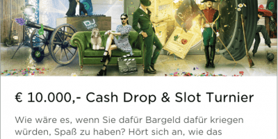 Es gibt ein 10.000€ Cash Drop & Slot Turnier im Mr Green Casino