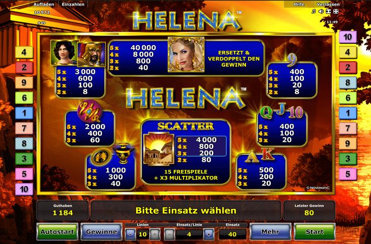 Novoline_Helena_Gewinntabelle