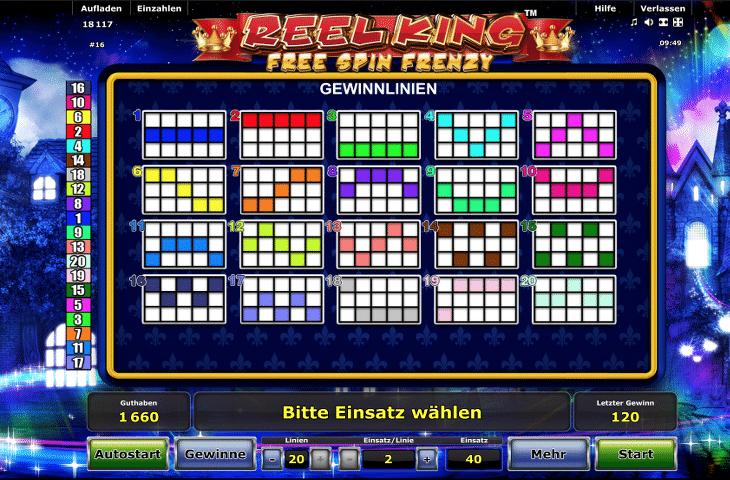 novoline_reel_king_free_spin_frenzy_gewinnlinien