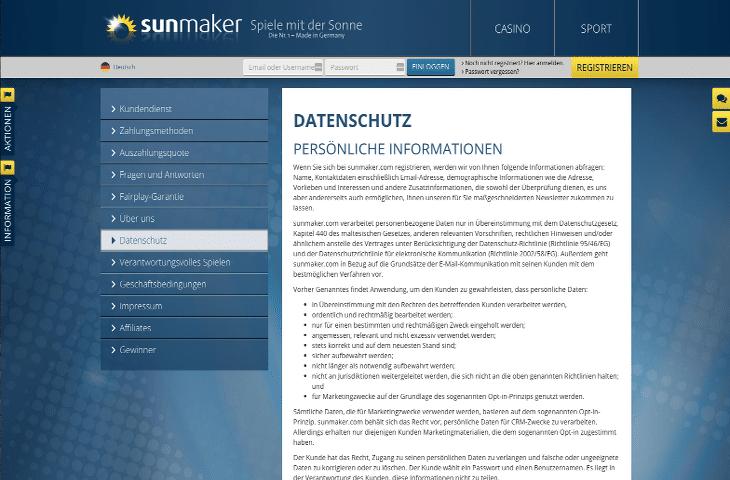 sunmaker_casino_datenschutz