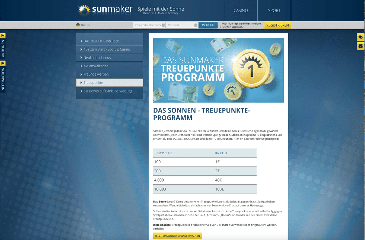 sunmaker_casino_treueprogramm