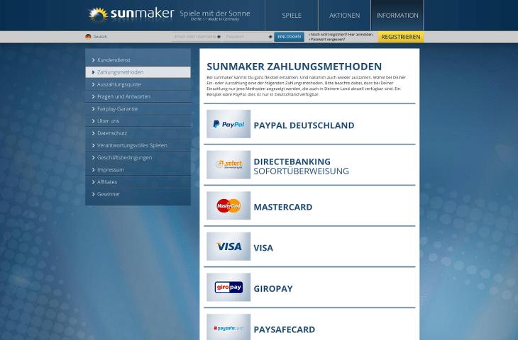sunmaker_casino_zahlungsmethoden