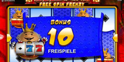 Reel King Free Spin Frenzy von Novoline